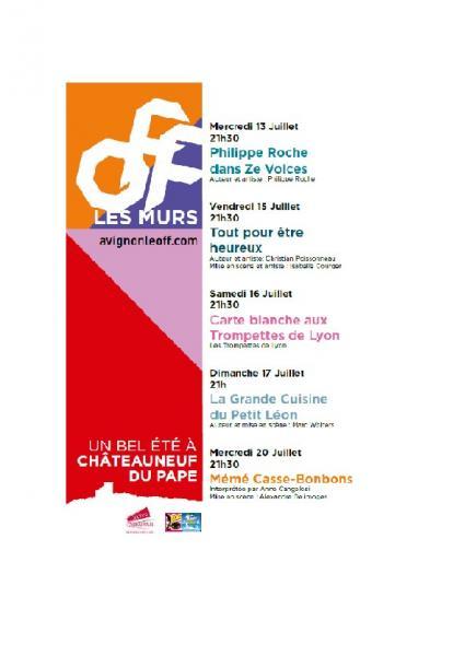 Chateauneuf recoit le festival off - Office de tourisme chateauneuf du pape ...